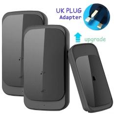 Recent Home Living Waterproof Wireless Doorbell Touch Uk Plug Adapter Upgrade 280M Long Range Smart Door Bell Chime 1 Button 2 Receiver For Dog Intl