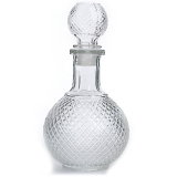 Buy Home Bar 1000Ml Round Ball Shape Whiskey Wine Beer Water Drinking Glass Bottle Decanter With Cap Stopper Vococal