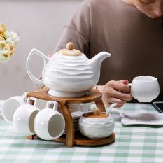 Best Price Zhengyi European Style Ceramic Coffee Pot Set
