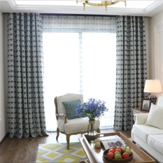 Home Decoration Modern Printed Curtain Blackout Window Curtain and Drapes for Living Room Bedroom Finished Fabric Window Blinds - intl