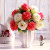 Sale Mimosifolia Home Decorations Artificial Flowers Wedding Party Rose Set Vase Intl Mimosifolia