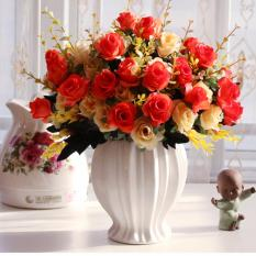 Compare Price Mimosifolia Home Decorations Artificial Flowers Wedding Party Rose Set Vase Intl Mimosifolia On Hong Kong Sar China