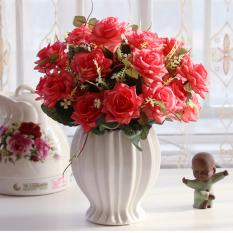 Cheaper Mimosifolia Home Decorations Artificial Flowers Wedding Party Rose Set Vase Intl