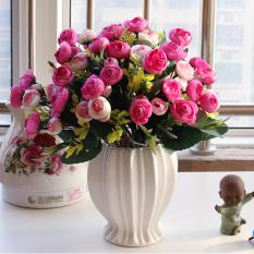 Price Comparisons Of Mimosifolia Home Decorations Artificial Flowers Wedding Party Rose Set Vase Intl