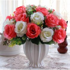 Buy Mimosifolia Home Decorations Artificial Flowers Wedding Party Rose Set Vase Intl Online