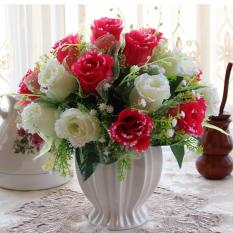 Mimosifolia Home Decorations Artificial Flowers Wedding Party Rose Set Vase Intl Shopping