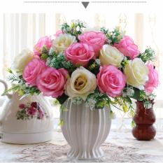 Brand New Mimosifolia Home Decorations Artificial Flowers Wedding Party Rose Set Vase Intl