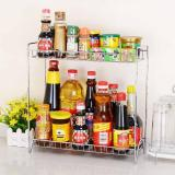 Buy Home Double Layers Spice Rack Metal Kitchen Organizer Seasoning Jar Storage Shelf For Spices Supplies Accessories China