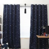 Sales Price Home Living Curtains Drapes Blackout Thermal Solid Window Curtai 130 190Cm Dark Blue Intl