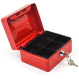 Home Office 6 Inch Portable Metal Lockable Cash Coin Money Storage Safe Security Box Holder Suitcase With Lock Key And 6 Compartment Tray Red Price Comparison