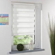 Home Office Decor Roller Zebra Blind Window Shade 70 x 150cm (White)