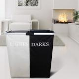 Brand New Hot Double Laundry Hamper Washing Basket Clothes Storage Bin Foldable Sorter Bag Intl