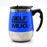 Price Hot Sale Novelty Automatic Electric Stirring Coffee Mug Comfkey Double Layer Stainless Steel Self Stirring Auto Coffee Mugs Self Mixing Cup For Morning Office Travelling Blue 450Ml 15 2Oz China