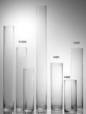 Lead-Free transparent glass floor straight vase