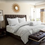 Best Rated Hotelier Prestigio™ Cliff Grey Base With Black Embroidery Quilt Cover