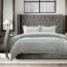 Top Rated Hotelier Prestigio™ Cliff Grey Black Grosgrain Bundle Bed Set