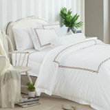 Hotelier Prestigio™ Rosewood Vector Embroidery Fitted Sheet Set Best Price