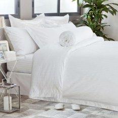 Hotelier Prestigio™ White Sateen Stripe Bundle Bed Set Deal