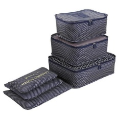 Household portable box waterproof clothes organizer storage box underwear bra packing makeup cosmetic cloth storage 6 Pcs/ set - intl