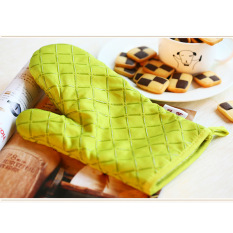 Sale Household Supplies Microwave Oven Gloves Cotton Heat Insulation 2×Green China