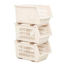List Price Set Of 3 Houze Stackable Multi Purpose Rectangle Basket Houze