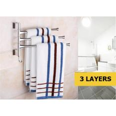 Price Huodong 3 4 Layer Rotary Bathroom Towel Rack Bars Movable Storage Hanging Racks Wall Mounted Kitchen Storage Oem Online