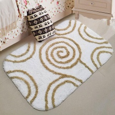 huohu 100% Pure Cotton Super Soft Non-slip Bathroom Rug Doormat Bedroom Mat Washable Living Room Carpet - intl