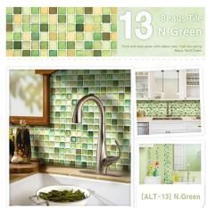 [Hyundae Sheet]10pcs-1set ★Beaus Tile ★ selfadhesive tile wallsticker wallpaper home decoration living DIY