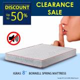Buy Igras 8 Bonnell Spring Mattress Queen Size Clear Stock Singapore