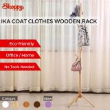Recent Shoppy Ika Coat Clothes Wooden Hanger Rack Storage Stand