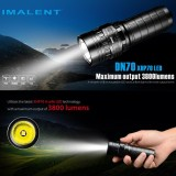Imalent Dn70 Xhp70 3800Lm 26650 Led Flashlight Tactical Rechargeable Lighting Intl On Line