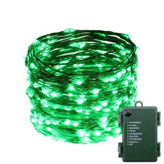 Where To Buy Indoor And Outdoor Waterproof Battery Operated 200 Led String Lights On 20M Long Ultra Thin Copper String Wire With 8 Lighting Modes Intl