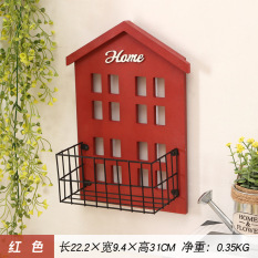 Wooden Shelf Storage Box Wall Decoration Terrace/Patio Creative Wall Hangers Storage Basket Snnei Wall Pendant Decorations