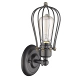 Retail Industrial Style Loft Iron Retro Small Cages Wall Lamps Vintage Light Black Intl