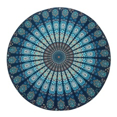 iooiopo Peacock Yoga Mat Indian Mandala Roundies Tapestry Tablecloth Vibrant Beach Towel Beach Throw Picnic Mat Table Throw Table Cover - intl