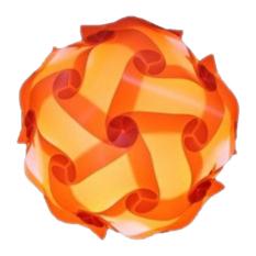 IQ Jigsaw Light shade kit DIY Puzzle Lampshade(40cm,orange)