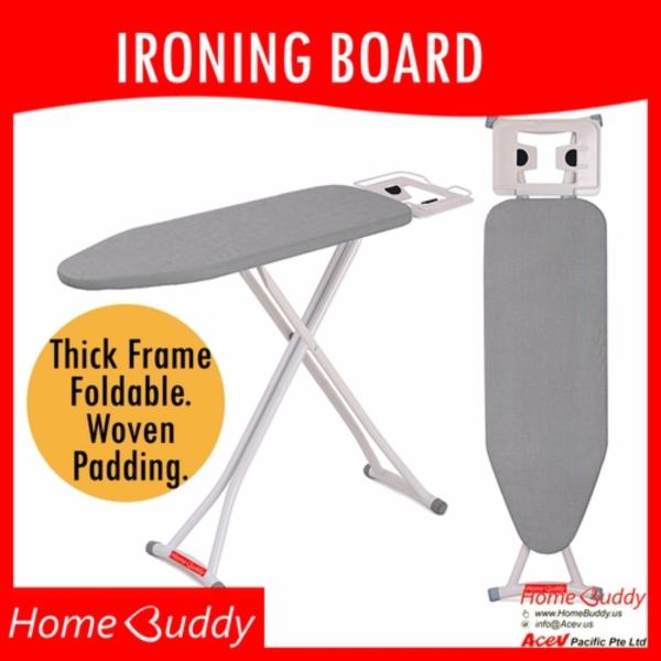 Ironing Board [THICK Frame. Foldable. Height-adjustable]_ 10,000+ sold_ READY Stocks SG. Reach you 2 to 4 work days_ HomeBuddy_ Acev Pacific