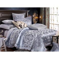 Price Isleep 100 Soft Cotton Silk Feel Elegant Jacquard Bed Sheet Sets Singapore
