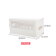 Imported from Japan Inomata Cable Box Socket Storage Box Power Supply Wire Finishing Box Patch Board Cord Manager