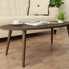 Japanese Style Oval Coffee Table (Dark Walnut)