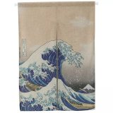 Cheapest Japanese Ukiyo E Kanagawa Surfing In Japanese Style Creative Curtain Partition Curtain Kitchen Curtain Bedroom Cloth Curtain Online