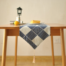 Buy Japanese Style Cotton Linen Green Japanese Traditional Decorative Fabric Table Runner Oem