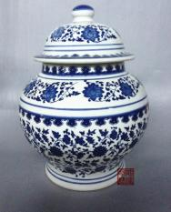 Jar Ornaments Large Tea Caddy Storage Tank Old Style Blue And White Shopping