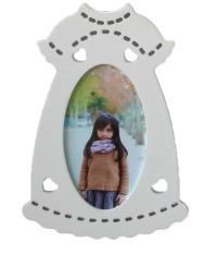 jaxuzha 15.2x9cm Creative Table Top Wood Picture Photo Frame Display (White)