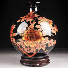 JDZ Jingdezhen Ceramic Vase HYUNDAI Decoration Flower Arrangement TV Cabinets Table-board Decoration Antique Shelf Send Base