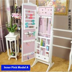 Best Jewelry Full Length Mirror Accessory Organizer Cabinet Inner Pink Model A