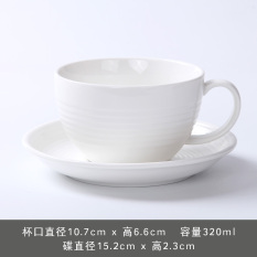 Discount Simple European Style Tea Cup And Saucer White Coffee Cup Oem