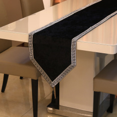 Best Simple Swan Velvet Solid Color Bed End Towel Cloth Table Runner