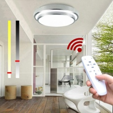 LED Ceiling Lights Change Color Temperature Ceiling Lamp 30W Smart Remote Control Dimmable Bedroom Living Room AC176 - 265V- intl