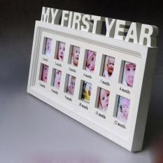 jiaxiang My First Year Wall Hanging Baby Prints Photo Picture Keepsake Frame ,White